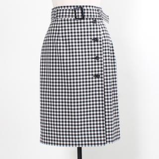 ジャスグリッティー(JUSGLITTY)の【未使用】ギンガムチェックのスカート(ひざ丈スカート)