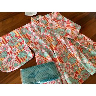 エムピーエス(MPS)の新品 MPS 花柄 浴衣ワンピース(甚平/浴衣)