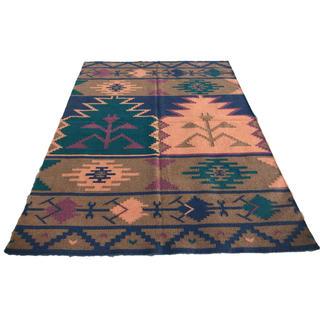 インドキリム ウール 手織り コンテンポラリー 241×172cm