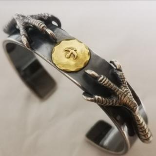 goro's - ■ラクマ限定特価■ 金メタル 銀爪 平打ちシルバーバングル