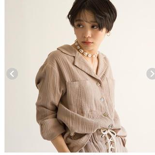 シールームリン(SeaRoomlynn)のシールームリン shellデリイールーズシャツ♡新品タグ付き(シャツ/ブラウス(長袖/七分))
