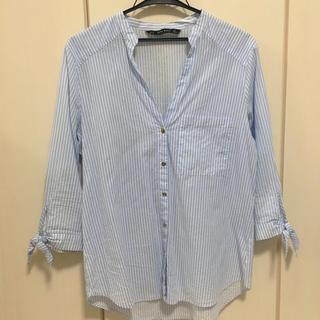 ザラ(ZARA)のZARA ストライプシャツ(シャツ/ブラウス(長袖/七分))