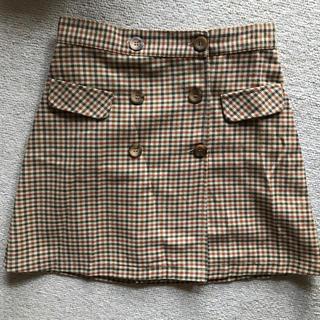 ザラ(ZARA)のZARAチェック台形スカート(ミニスカート)