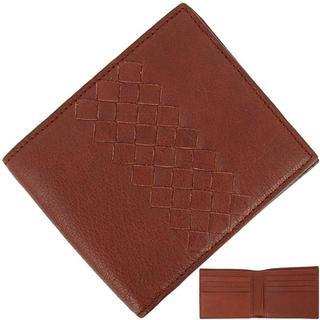 ボッテガヴェネタ(Bottega Veneta)のボッテガヴェネタ 二つ折り財布 本革 ブラウン(折り財布)