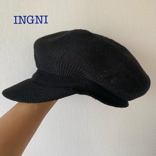 イング(INGNI)のINGNI 黒キャスケット 帽子 ほぼ未使用(キャスケット)