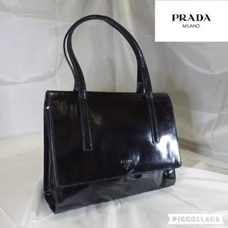 プラダ(PRADA)のプラダ PRADA パテントレザー ハンドバッグ ブラック(ハンドバッグ)