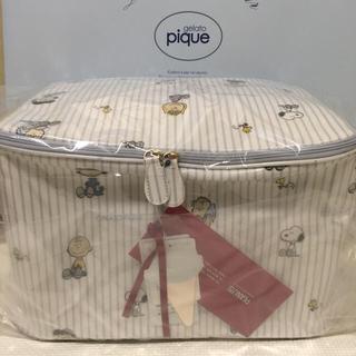 ジェラートピケ(gelato pique)の新品 タグ付き ジェラートピケ  スヌーピー  オムツ収納 おむつボックス(ケース/ボックス)