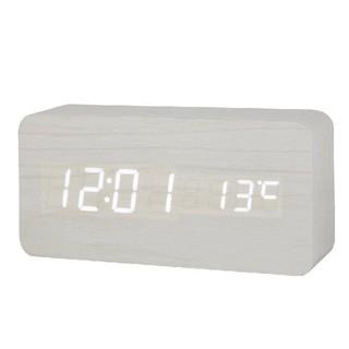 ☆スタイリッシュ☆ デジタル LED目覚し時計 ホワイト