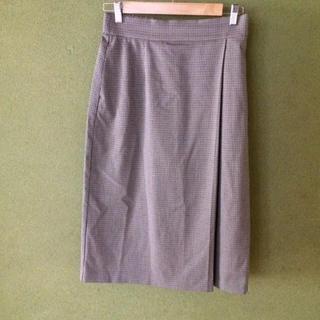 ユニクロ(UNIQLO)のユニクロ ペンシルスカート タイトスカート チェック スカート ナロースカート(ひざ丈スカート)