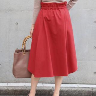 ノーブル(Noble)の新品 未使用品 NOBLE Wタックギャザー裾ラウンドスカート(その他)