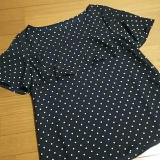 ジーユー(GU)のGU ドット ブラウス トップス(シャツ/ブラウス(半袖/袖なし))