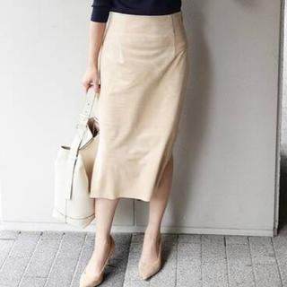 ノーブル(Noble)の大人気✨【Noble】フェイクスエードスカート(ひざ丈スカート)