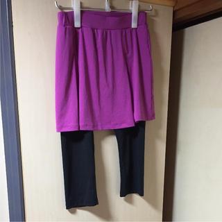 ジーユー(GU)のgu sport レギンス付きスカート(レギンス/スパッツ)
