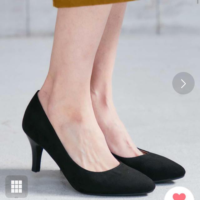 ORiental TRaffic(オリエンタルトラフィック)のポインテッドトゥヒールパンプス 黒 レディースの靴/シューズ(ハイヒール/パンプス)の商品写真