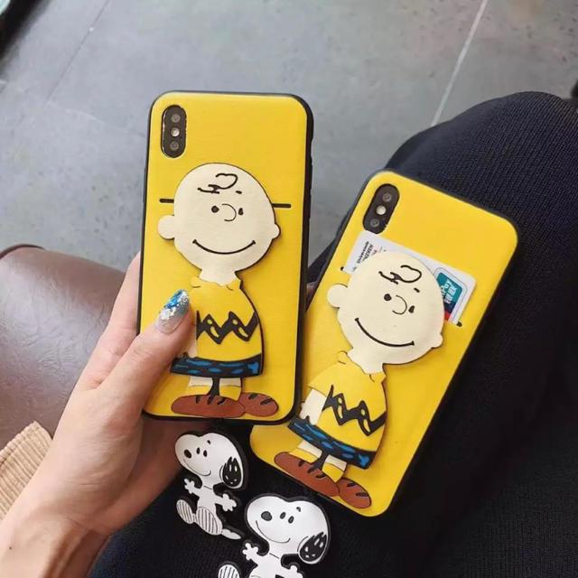 iphone x プラス ケース 、 【チャーリーブラウンiPhone】保護カバー★の通販 by キラさん|ラクマ