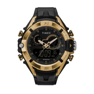 タイメックス(TIMEX)のTIMEXタイメックス 腕時計デジタルアナログブラック×ゴールド(腕時計(アナログ))