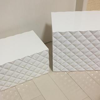 フランフラン(Francfranc)の山崎実業 コスメボックス ボックス 2点セット(ケース/ボックス)