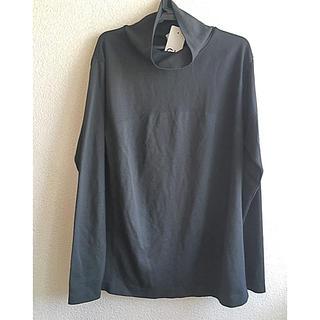 ジーユー(GU)のGU  SPORTSサイドシームレスハイネックT長袖サイズL黒タグ付き未使用品(Tシャツ(長袖/七分))