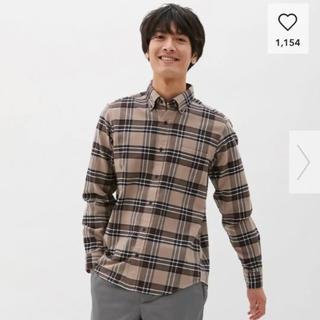 ジーユー(GU)のフランネルチェックシャツ(長袖) GU 美品 大人気完売品 バーバリーチェック(シャツ)