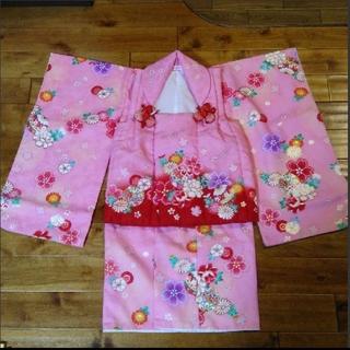 七五三 3歳 着物 ピンク 花ひめ