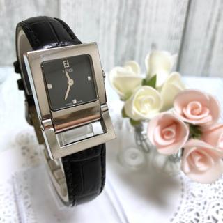 フェンディ(FENDI)の【電池交換済み】FENDI フェンディ 腕時計 5200L ブラック シルバー(腕時計)