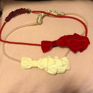 ふりふ - ふりふ ベロア リボン 帯締め 帯飾り 二個セット 和装 小物