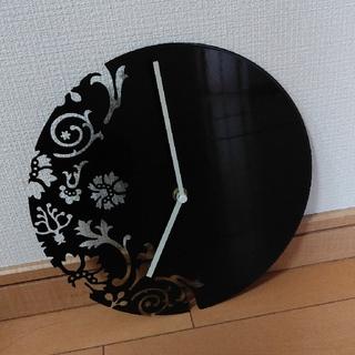 フランフラン(Francfranc)の【Francfranc(フランフラン)】壁掛け時計 切り絵シリーズ ブラック(掛時計/柱時計)