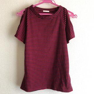ジーユー(GU)の肩あきボーダーTシャツ(Tシャツ(半袖/袖なし))