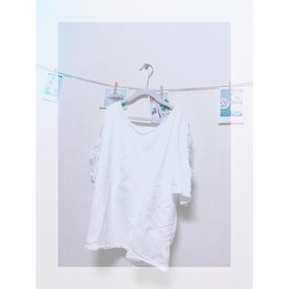 ジーユー(GU)のオフショル Tシャツ 5分丈(Tシャツ(半袖/袖なし))