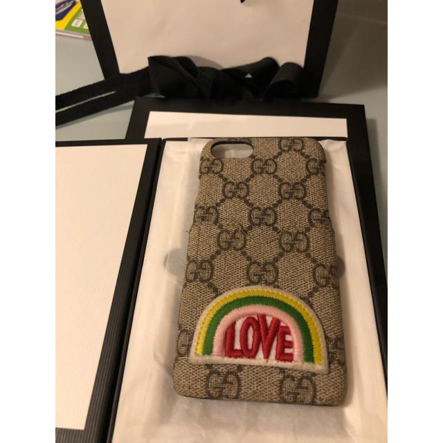 アップル 純正 ケース 8 - Gucci - GUCCI レインボー GGスプリーム キャンバス iPhone 7/8ケースの通販 by ttcrrmm's shop|グッチならラクマ