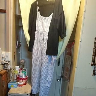 シマムラ(しまむら)のワンピース カーディガン セット Lサイズ 夏服(ロングワンピース/マキシワンピース)