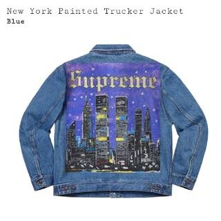 Supreme - supreme trucker jacket 青 M 値下げ不可