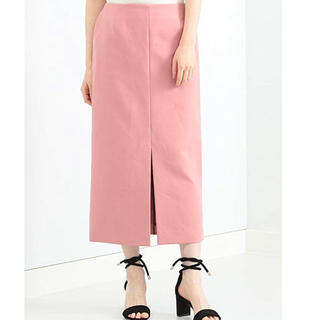 デミルクスビームス(Demi-Luxe BEAMS)のデミルクスビームス♡フロントスリットコットンタイトスカート(ひざ丈スカート)