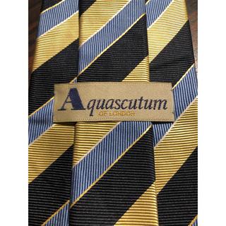 アクアスキュータム(AQUA SCUTUM)の【Aquascutum】美品 ネクタイ かっこいいストライプ(ネクタイ)