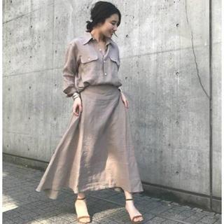 ドゥーズィエムクラス(DEUXIEME CLASSE)のタグ付き新品♡MADISONBLUE MI-MOLLET FLARE SKIRT(ロングスカート)