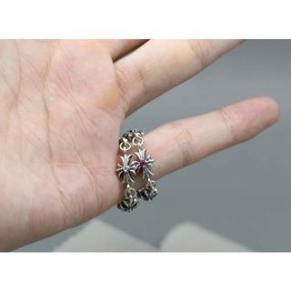 クロムハーツ(Chrome Hearts)のK181クロムハーツリングクロスダイヤ(リング(指輪))