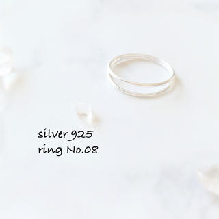 ring No.08♡silver925 重ねづけ風 2連リング(リング(指輪))