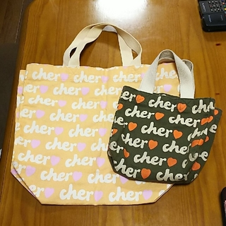 シェル(Cher)のトートバッグ大小セット(トートバッグ)