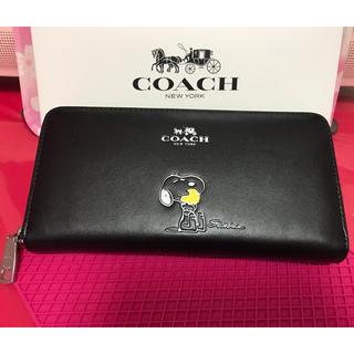 ee53d0529953 コーチ(COACH)のコーチ SNOOPYコラボ 長財布 ブラック(財布)