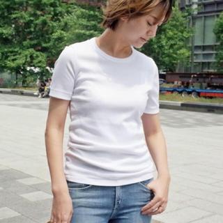 ドゥーズィエムクラス(DEUXIEME CLASSE)のDeuxieme Classe GIZA フライスTシャツ ホワイト(Tシャツ(半袖/袖なし))