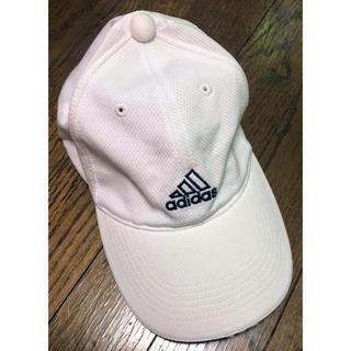 アディダス(adidas)のadidas 白色の帽子(キャップ)