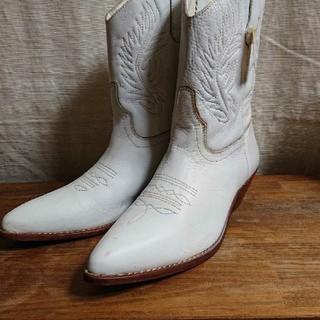 ウエスタンブーツ・白・大きいサイズ(ブーツ)