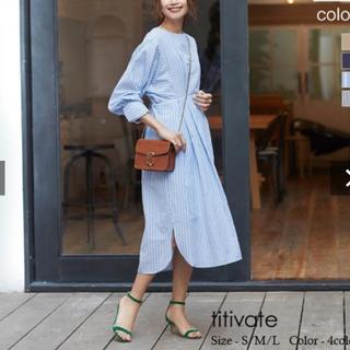 ティティベイト(titivate)の美品♪ titivate オーバーサイズシャツワンピース(ひざ丈ワンピース)