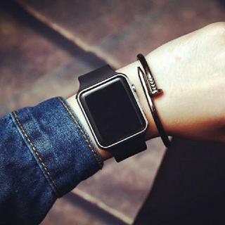 *オシャレ* LED デジタル腕時計(腕時計(デジタル))
