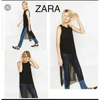 ZARA - 美品 ZARA シースルー カットソー