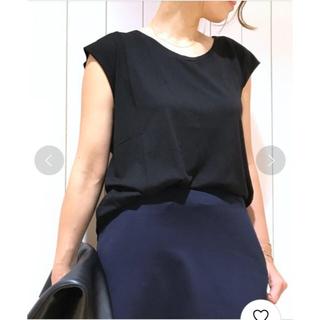 ドゥーズィエムクラス(DEUXIEME CLASSE)のCALUX  コットンモダールタンクトップ  ブラック(Tシャツ(半袖/袖なし))
