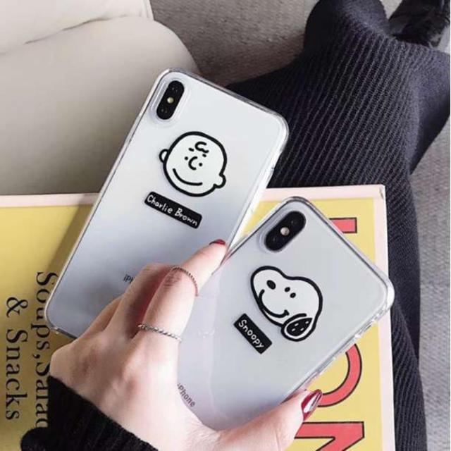 iphone 8 plus ケース シンプル / スヌーピー  チャーリーブラウン スマホケース iphone7/8/X/XRの通販 by かな's shop|ラクマ