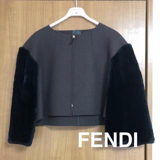 フェンディ(FENDI)のFENDI ノーカラージャケット(ノーカラージャケット)