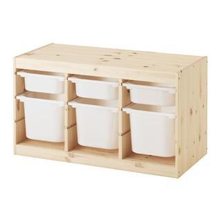 イケア(IKEA)の【新品・送料込】IKEA トロファスト パイン材ホワイトSx3, ホワイトx3(キッチン収納)