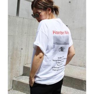 ドゥーズィエムクラス(DEUXIEME CLASSE)のHombre Nino LIFE バックプリントTシャツ(Tシャツ(半袖/袖なし))